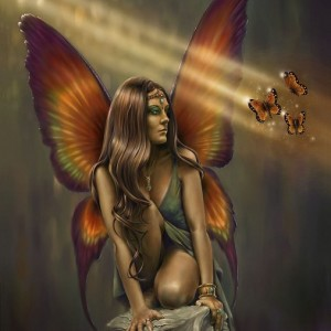 Enigma fairy greetings card