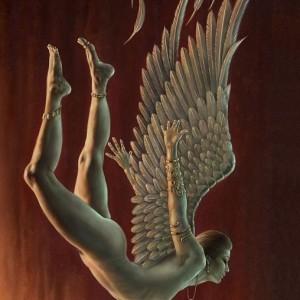 fallen angel greetings card