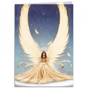 Purity angel greetings card