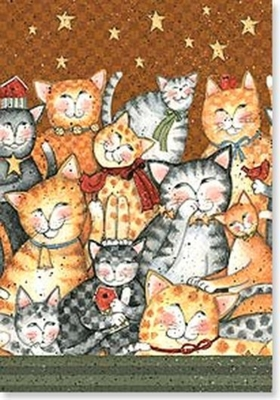 pussycat collage birthday card