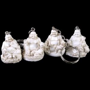 White buddha keyring