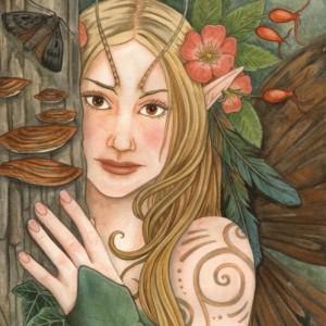 Wood nymph fairy greetings card