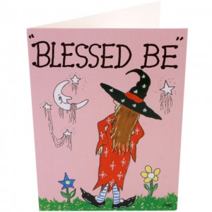 blessed be greetings card
