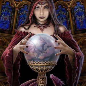 crystal ball anne stokes canvas