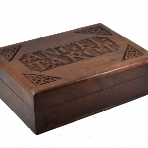angel tarot oracle card wooden box