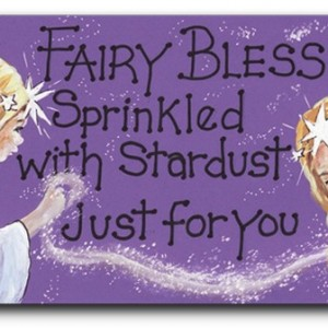 fairy blessings dust fridge magnet