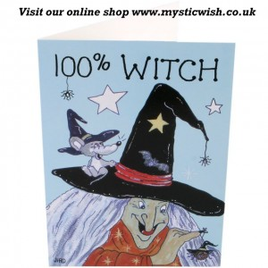 100% witch greetings card