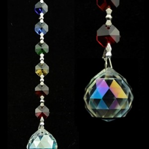 Aurora Sphere Feng-Shui Chakra Crystal String
