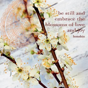be still and embrace greetings card
