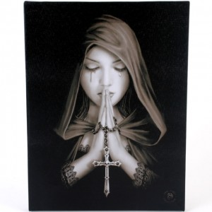 gothic prayer canvas
