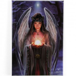 yule angel fridge magnet
