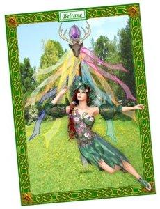 Beltane wiccan pagan greetings card
