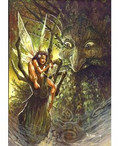 healing fairy greetings card