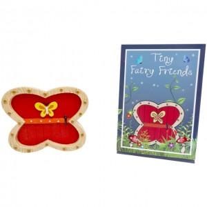 red butterfly shape fairy door