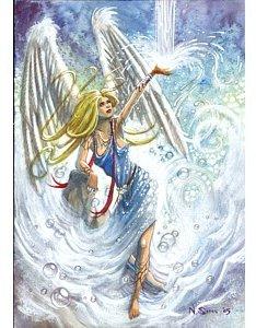 angel gabriel greetings card