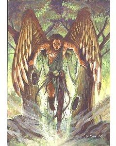 archangel uriel greetings card