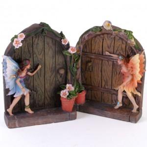 brown fairy doors