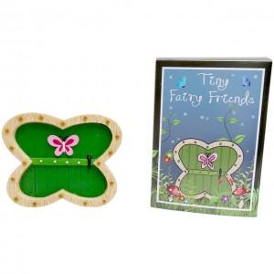 green butterfly shaped fairy door