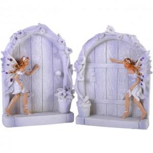 lilac fairy doors flowers