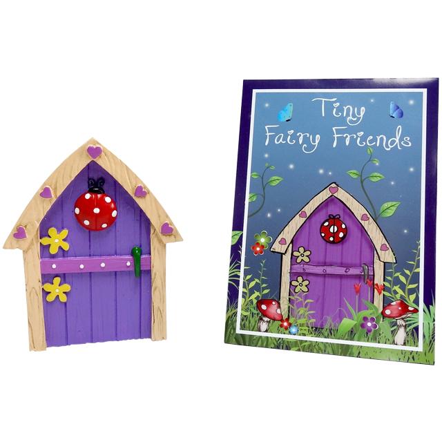 Purple fairy door ladybird hearts flowers mystic wish for Purple fairy door