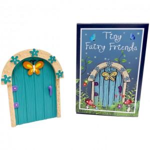 Turqoise butterfly fairy door