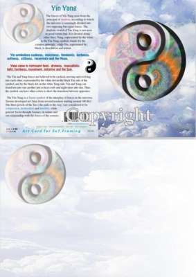 yin yang greetings card
