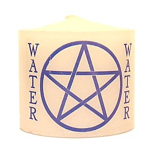 candle water pentacle