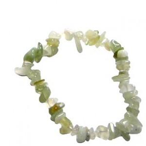 new jade crystal chip bracelet