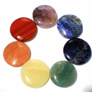 Chakra stone set large round