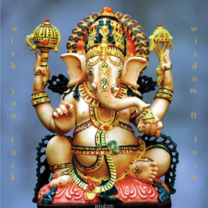 ganesh luck wisdom love