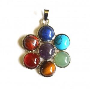 chakra flower pendant