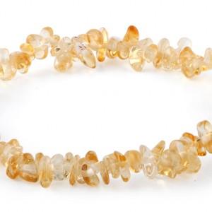 citrine crystal chip bracelet