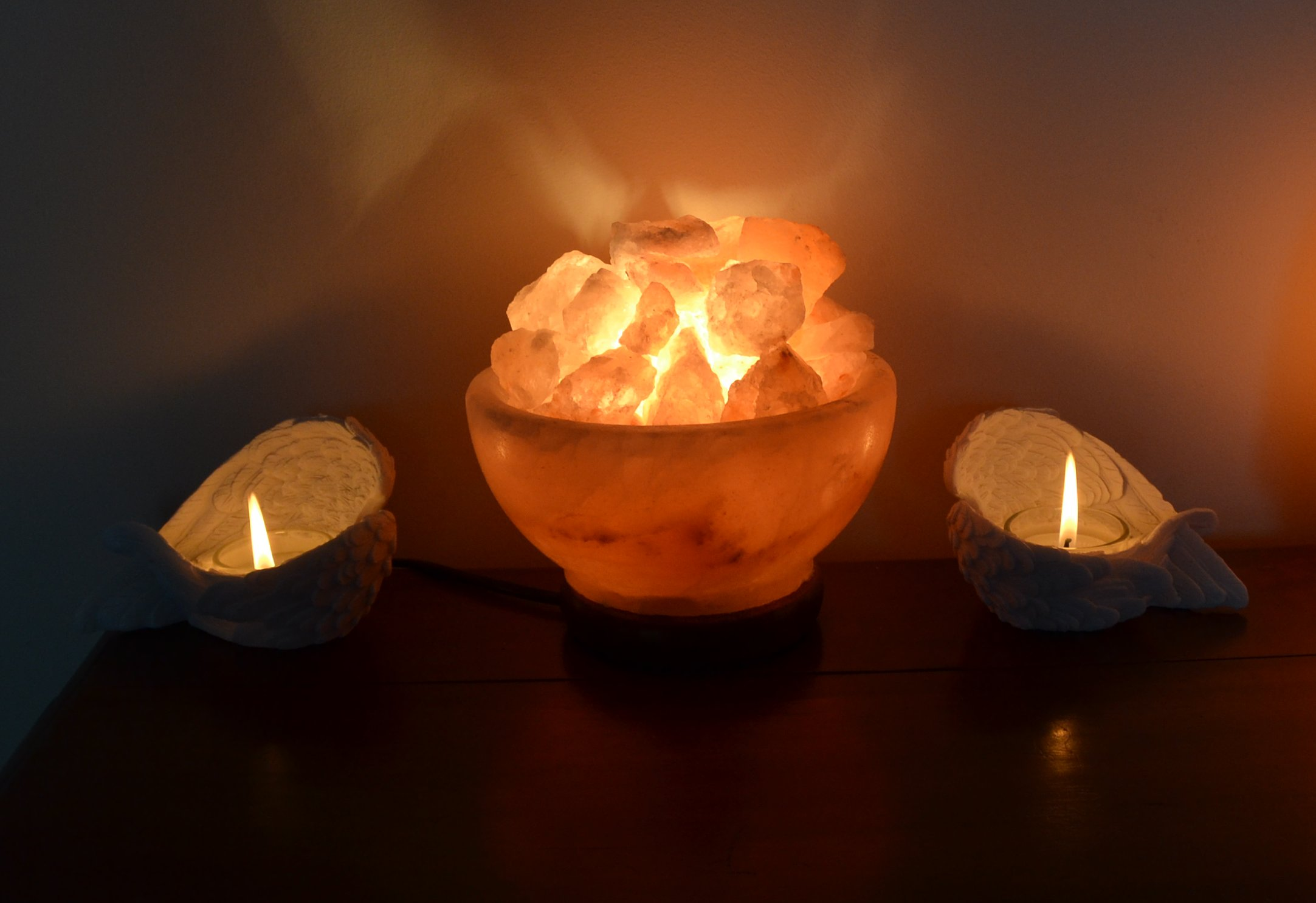 Salt Lamps For Breathing Problems : Himalayan Salt Lamp Bowl (Mood Enhancing / Breathing) Mystic Wish