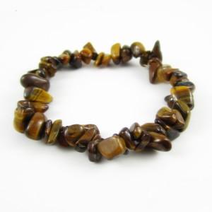 tigers-eye crystal chip bracelet