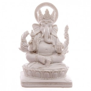 white ganesh figure