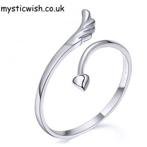 Heart and wing ring