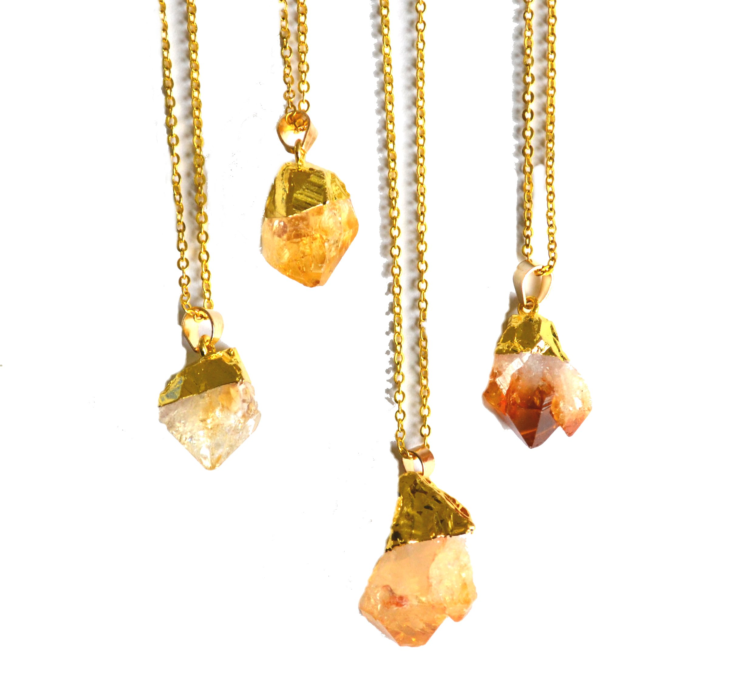 shape citrine necklace luck fortune