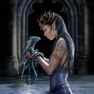 water dragon wall canvas anne stokes