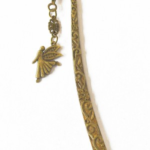 Bookmark angel gold coloured