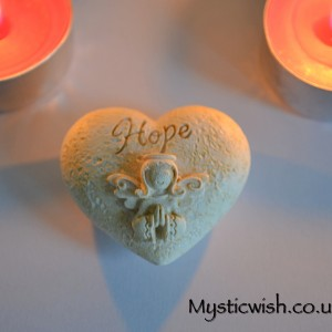 worry heart stone