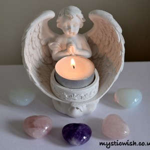 Cherub tealight angel