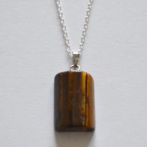 pendant necklace tigerseye