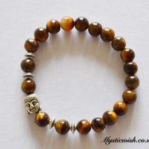 tigerseye buddha bracelet
