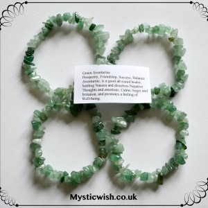 bracelet green aventurine
