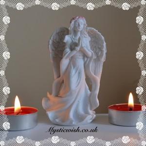 Angel praying pink and white