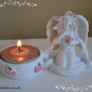 Tealight holder angel rose