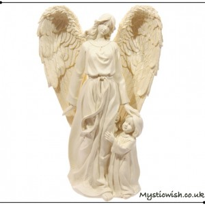 large angel with child