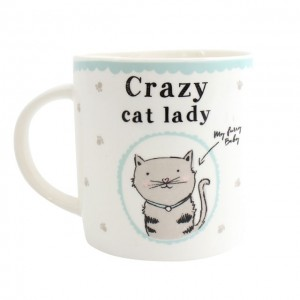 cup crazy cat lady