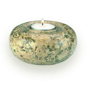 candle holder fossilstone