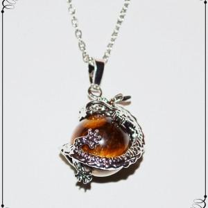 necklace tigerseye dragon